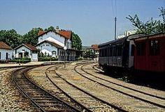 Estação de Vila Real, em 1996 - linha do Corgo