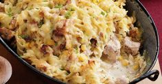 Creamy Chicken Fusilli Bake, 11 Delicious Chicken Recipes - Always in Trend Creamy Chicken Pasta Bake, Fusilli Pasta Recipe, Creamy Pasta, Yummy Chicken Recipes, Yum Yum Chicken, Pasta Recipes, Yummy Food, Drink Recipes, Yummy Recipes