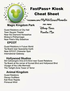 Where to find the FastPass+ kiosks in every Walt Disney World Park.