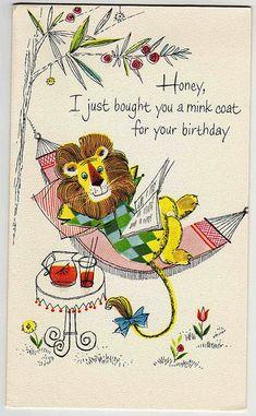 ┌iiiii┐                                                              Happy Birthday vintage greeting card