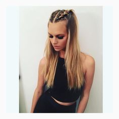 ✔ Cute Hairstyles For Concerts Half Up Half Down Braid Half Up Half Down, Half Braid, Braided Half Up, Concert Hairstyles, Hairstyles Haircuts, Braided Hairstyles, Festival Hair, Festival Outfits, How To Make Hair