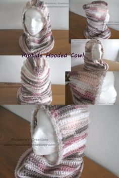 Riptide Hooded Cowl Free Crochet Pattern is part of Knitting and Crochet Scarves Hooded Cowl - Here you can Learn how to make a Riptide Hooded Cowl By Meladora's Creations Free Crochet Patterns and Video Tutorials Crochet Hat Tutorial, Crochet Cowl Free Pattern, Beginner Crochet Tutorial, Crochet For Beginners, Free Crochet, Learn Crochet, Scarf Tutorial, Crochet Hooded Cowl, Crochet Adult Hat