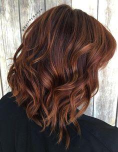 12 Braun Lob Mit Kupfer Strähnen Haare Pinterest Hair Hair