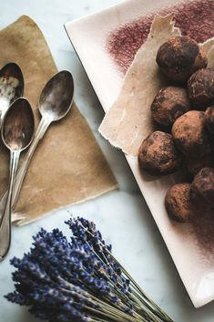 Baking Magique   Lavender Truffles   http://www.bakingmagique.com