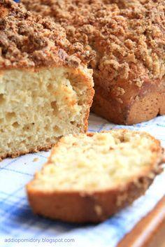drożdżowe ciasto - na wierzch położyłam rabarbar- bardzo smaczne ciasto