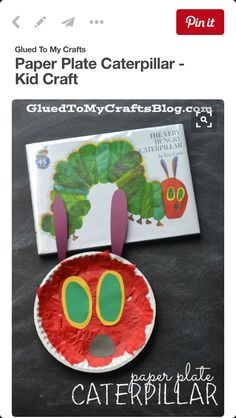Today I present to you our super easy and inexpensive Paper Plate Caterpillar Kid Craft that goes along PERFECTLY with our beloved Eric Carle book. Daycare Crafts, Toddler Crafts, Crafts For Kids, Bug Crafts, Eric Carle, Storybook Crafts, The Very Hungry Caterpillar Activities, Caterpillar Art, Paper Plate Crafts