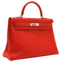 Kelly 35 can make you get everybody's notice but are not used to their special attention on you. If you need Hermes Kelly 35cm in sewing Red Togo Leather Silver Hardware,just come and join us! We are one of the best online store of the Hermes Kelly.More view http://www.besthermes.com/