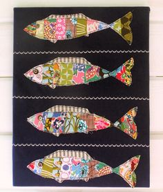 Over at Bustle and Sew, Helen has added a Stripey Fishes applique pattern that is free with sign-up to her newsletter. It is a lovely pattern so if you aren't already a member of her newslett… Fabric Fish, Fabric Art, Fabric Crafts, Sewing Crafts, Applique Patterns, Applique Quilts, Quilt Patterns, Quilting Projects, Quilting Designs
