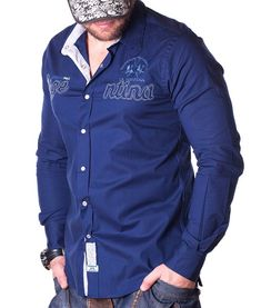 La Martina Asierto De Polo Shirt - Navy Color: navy Lined collar and placket La Martina branded buttons La Martina logo embroidery on the left chest side. Polo Bordado, Neon Azul, Camisa Slim, Number 2, Navy Color, Online Outlet, Long Sleeve Shirts, Polo Shirt, Shirt Dress