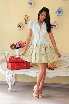 Vestido Curto Gira Moinho - Viví moda exclusiva