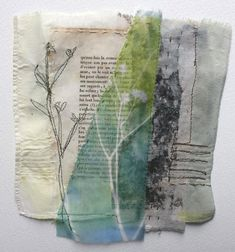 Cas Holmes - Zeeland Flora I loved stitching on paper! Collages, Art Textile, Textile Artists, Mixed Media Collage, Collage Art, Fabric Journals, Art Journals, Cas Holmes, A Level Textiles