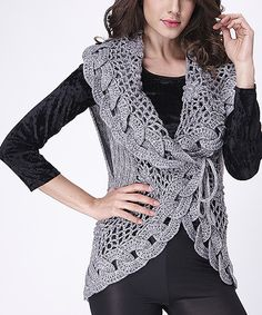 Look at this Simply Couture Gray Wool-Blend Sweater Vest on #zulily today!