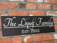 Custom Personalized Family Established Sign with Monogram