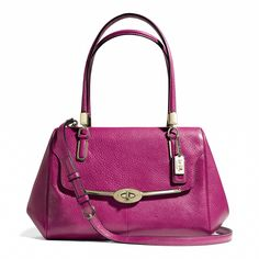 The Madison Small Madeline East/West Satchel in Leather from Coach