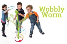 Wobbly Worm Ring Toss Game For Kids Review Backyard Games Kids, Outdoor Games For Kids, Kids Party Games, Birthday Party Games, Parachute Games For Kids, Pool Floats For Kids, Swimming Pool Games, Toss Game, Family Night