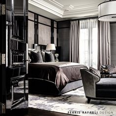 Master bedroom designed by Ferris Rafauli