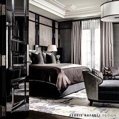 Master bedroom designed by Ferris Rafauli