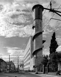 Water Towers Of Luxembourg Black And White Architecture