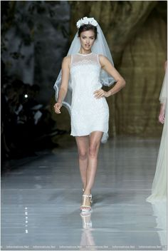Irina Sheik at Pronovias 2014 Bridal collection - Gaudi Novias