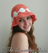 Josephine_s_floppy_sun_hat _-_ free_crochet_pattern _-_ the_lavender_chair_small Crochet Cap, All Free Crochet, Crochet Beanie, Knitted Hats, Crochet Summer, Crochet Hat With Brim, Beginner Crochet, Sombrero A Crochet, Floppy Sun Hats