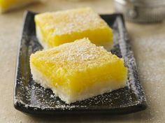 Sweet, tart and smooth...lemon bars remain a crowd-pleasing favorite for lunchbox treats or for a cookie tray.