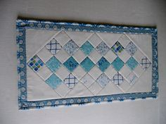 Quilted Table Runner Seashells Ocean by ForgetMeNotQuilteds