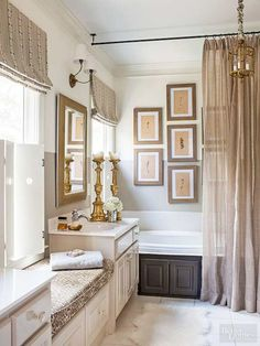 nice 38 Best Ways to Add Curtains in Your Bathroom Decor