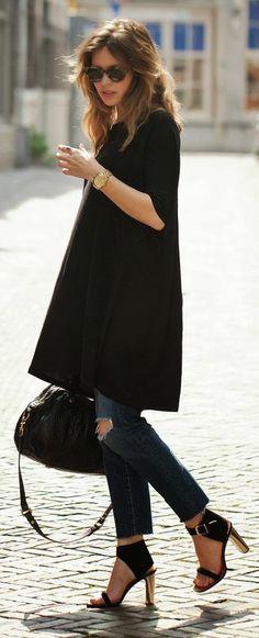 Back in Black. Aline long tunic.
