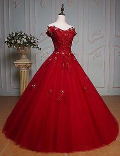 8bb6b9793cc   199.99  Princesse Longueur Sol Dentelle Tulle Robe de mariée avec Cristal  Billes Dentelle par QZ