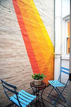 Patio wall art.
