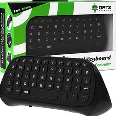 Ortz Xbox One Chatpad Keyboard KeyPad [with Headset/Audio Jack] Best for Wireless Chat - Built in USB Receiver for Xbox One Game Controller - Easy Sync with your Controller Xbox 360, Playstation, Xbox One Headset, Xbox One Controller, Xbox One S, Xbox Live, Gaming Headphones, Video Games Xbox, Xbox One Games