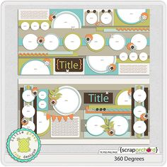 Digital Scrapbook Template - 360 Degrees | Little Green Frog Designs