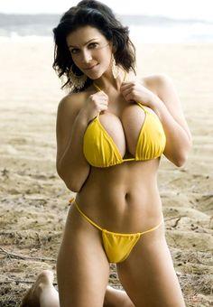 Sexy bikini mobile sommer ass yellow