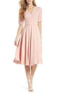 4d770c7f66fd Gal Meets Glam Collection Edith City Crepe Fit & Flare Midi Dress (Nordstrom  Exclusive)   Nordstrom
