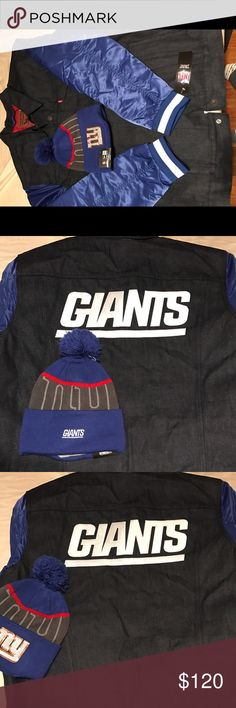 Men's sought after Levi NFL jacket This is coming as a holiday set for that special gift men's NFL New York Giants Sought after Levi jacket with hat says XXL but fits like XL both are new with tags another good find.. Levi's Jackets & Coats Lightweight & Shirt Jackets