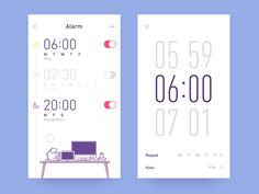 app-radio clock by Rwds #Design Popular #Dribbble #shots