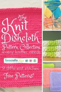 The Knit Dishcloth Pattern Collection Every Knitter Needs More