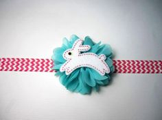 ON SALE Easter Spring Baby Girl Toddler Hair by MWLHairPretties, $6.00 Easter Bunny Headbands and hairclips for toddlers and babies. Visit our Etsy shop or FB page www.facebook.com/mwlhairpretties