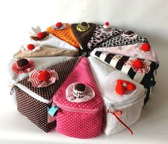 New Ideas diy food storage containers products Fabric Crafts, Sewing Crafts, Sewing Projects, Sewing Diy, Fabric Bags, Craft Gifts, Diy For Kids, Hand Sewing, Diy And Crafts