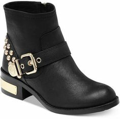 Vince Camuto Windetta Studded Moto Booties on shopstyle.com
