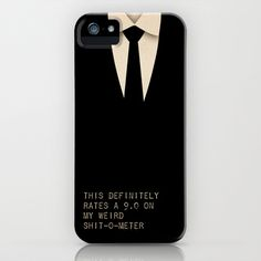 Men In Black iPhone Case by Ewan Arnolda - $35.00