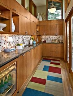 Cabinets   Mid-Century Butler's Pantry - Midcentury - Kitchen - minneapolis - by Design By Lisa