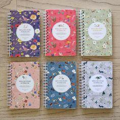 Indigo Willow story wirebound pattern small notebook - fallindesign