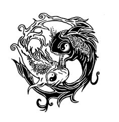 ying yang fish tatoo by *saramira on deviantART