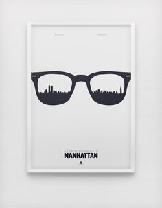 Manhattan Poster by Arden Avett in 50 Fresh Minimal Movie Posters Graphic Design Posters, Graphic Design Inspiration, Creative Inspiration, Typography Design, Graphic Art, Daily Inspiration, Web Design, Creative Design, Design Art