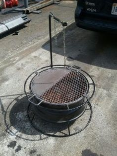Truck Rim Fire Pit Ideas | It has served me and my Scouts well for years...