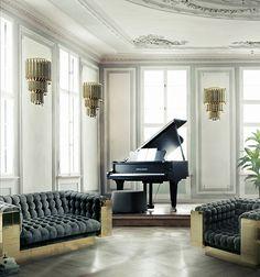 Matheny Fixture Mid-century modern Unique Aluminum Lamp, interior classic decor www.delightfull.eu