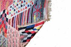 Rainbow Kilim Rug x Kilim Rugs, 5 S, Vivid Colors, Bohemian Rug, Hand Weaving, Recycling, Rainbow, Quilts, Blanket