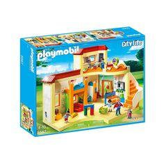 Kæmpe 2-planshus med Playmobil børnehave med masser af indhold til timevis af leg, der kan kombineres med andre City Life æsker. City Life, Barn, Playmobil, Converted Barn, Barns, Shed, Sheds