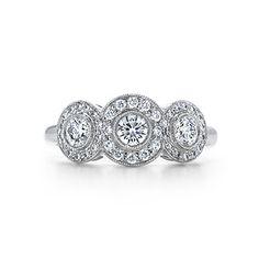 Tiffany Circlet ring of diamonds in platinum.
